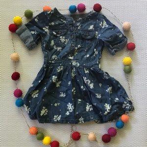 Oshkosh denim floral dress